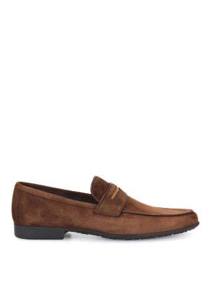 MORESCHI: Mocassini e slippers - Mocassini in camoscio marrone
