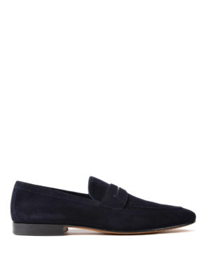 Moreschi: Loafers & Slippers - Haiti navy suede loafers