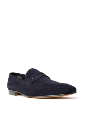 Moreschi: Loafers & Slippers online - Haiti navy suede loafers
