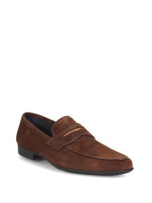 MORESCHI: Mocassini e slippers online - Mocassini in camoscio marrone