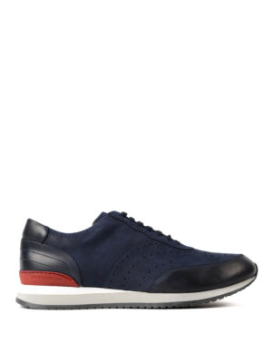 Moreschi: trainers - Sparta blue nubuck sneakers