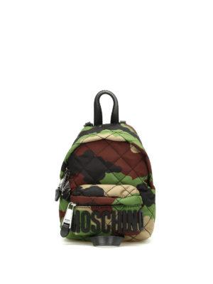 Moschino: backpacks - Camou nylon mini backpack