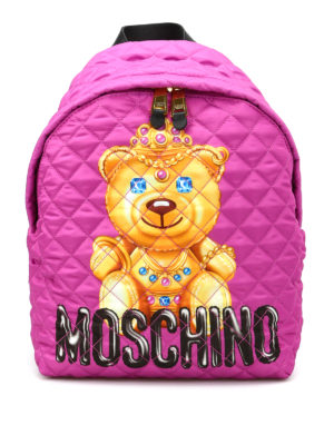 Moschino: backpacks - Jewel bear quilted backpack