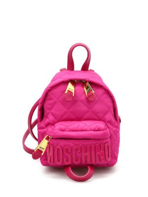 Moschino: backpacks - Logo lettering small backpack
