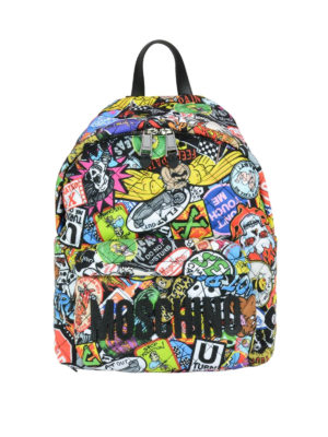 Moschino: backpacks - Multicolour print backpack