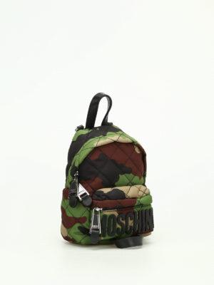 Moschino: backpacks online - Camou nylon mini backpack