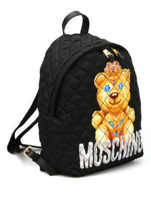 Moschino: backpacks online - Jewel bear quilted backpack