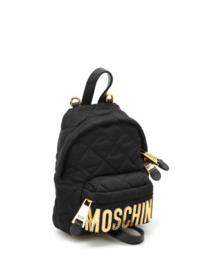 Moschino: backpacks online - Logo lettering small backpack