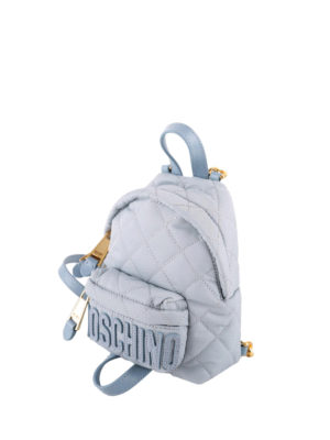 Moschino: backpacks online - Quilted nylon backpack