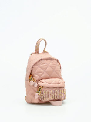 Moschino: backpacks online - Quilted nylon mini backpack
