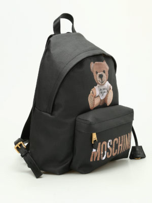 Moschino: backpacks online - Saffiano leather backpack