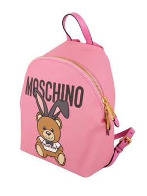 Moschino: backpacks online - Teddy Playboy pink backpack