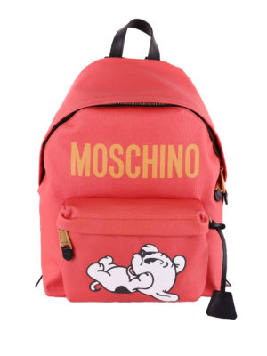 Moschino: backpacks - Pudge print backpack