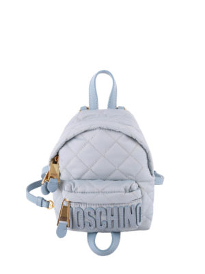 Moschino: backpacks - Quilted nylon backpack