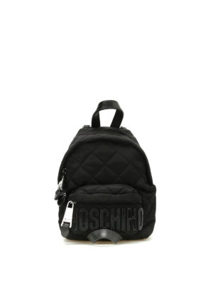 Moschino: backpacks - Quilted nylon mini backpack