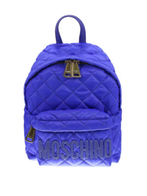 Moschino: backpacks - Quilted technical fabric backpack