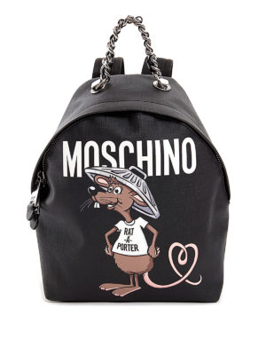 Moschino: backpacks - Rat-à-porter backpack