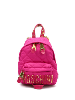 Moschino: backpacks - Studded logo lettering backpack
