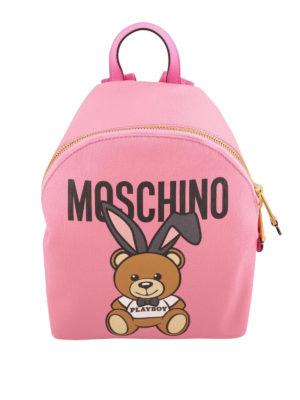 Moschino: backpacks - Teddy Playboy pink backpack