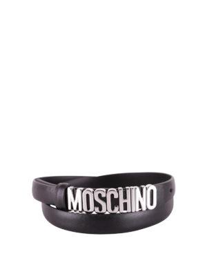 Moschino: belts - Maxi metal logo belt