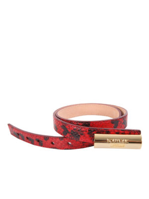 Moschino Boutique: belts - Reptile print leather belt