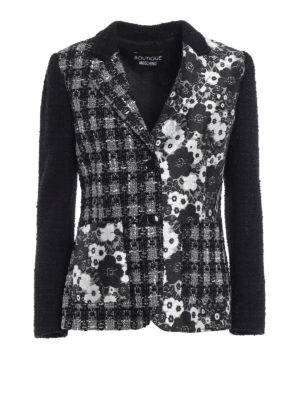 Moschino Boutique: blazers - Boucle tweed and brocade blazer
