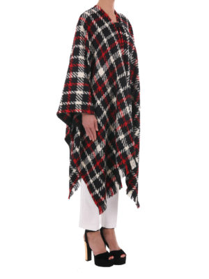 Moschino Boutique: Capes &  Ponchos online - Tartan wool blend cape