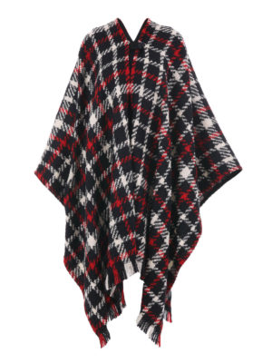 Moschino Boutique: Capes &  Ponchos - Tartan wool blend cape