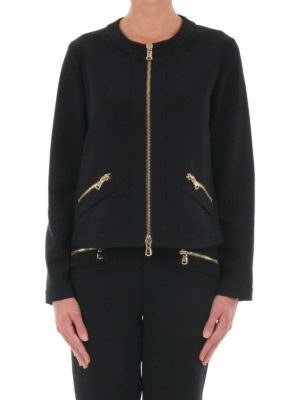 Moschino Boutique: casual jackets online - Zip detailed crew neck jacket