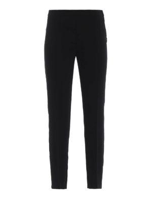 Moschino Boutique: pantaloni casual - Pantaloni a sigaretta in crepe cady