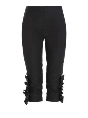 Moschino Boutique: casual trousers - Flounce insert three quarters pants