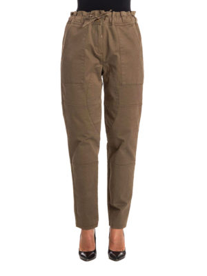 Moschino Boutique: casual trousers online - Cotton pants with drawstring