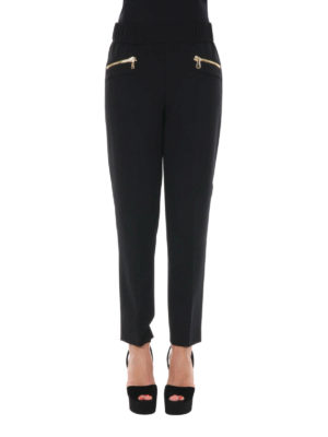 Moschino Boutique: casual trousers online - Zip detailed trousers