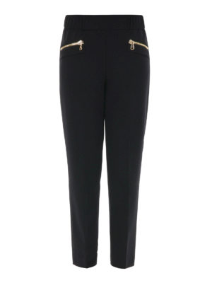 Moschino Boutique: casual trousers - Zip detailed trousers