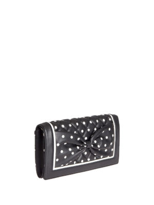 Moschino Boutique: clutches online - Polka-dots printed leather clutch