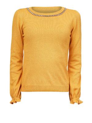 Moschino Boutique: maglia collo rotondo - Maglia girocollo con strass