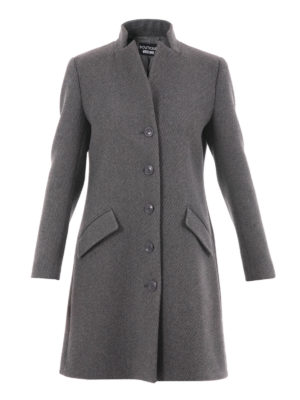 Moschino Boutique: knee length coats - Ribbed wool blend classic coat