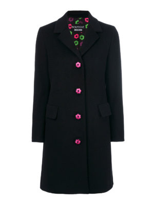 Moschino Boutique: knee length coats - Wool and cashmere coat
