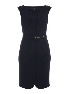 Moschino Boutique: knee length dresses - Bon ton belted sheath dress