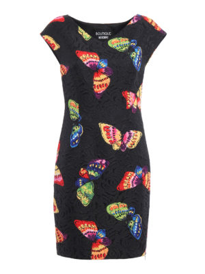 Moschino Boutique: knee length dresses - Butterfly print brocade dress