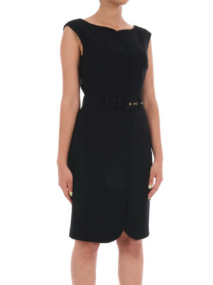 Moschino Boutique: knee length dresses online - Bon ton belted sheath dress