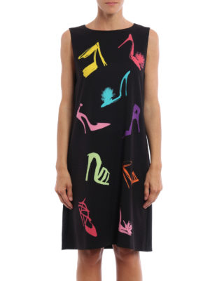 Moschino Boutique: knee length dresses online - Pumps print cady dress