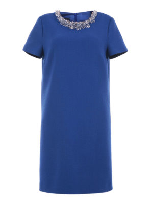 Moschino Boutique: knee length dresses - Short sleeve jewel wool dress