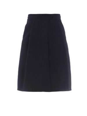 Moschino Boutique: Knee length skirts & Midi - Cotton blend structured wheel skirt