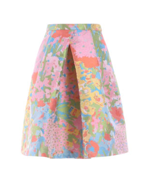 Moschino Boutique: Knee length skirts & Midi - Floral print structured wheel skirt