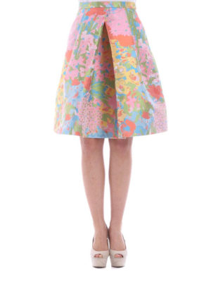Moschino Boutique: Knee length skirts & Midi online - Floral print structured wheel skirt