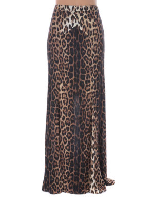 Moschino Boutique: Long skirts online - ANIMAL PRINT CREPE SKIRT