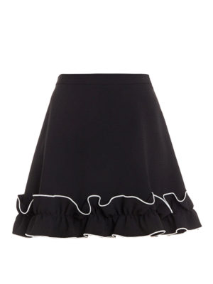 Moschino Boutique: mini skirts - Frilled trim A-line mini skirt