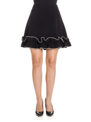 Moschino Boutique: mini skirts online - Frilled trim A-line mini skirt