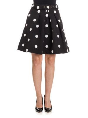 Moschino Boutique: mini skirts online - Polka-dot jacquard flared skirt